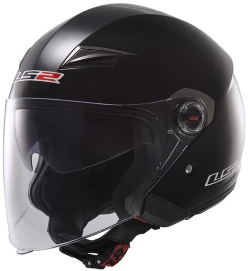Kask LS2 TRACK solid gloss black